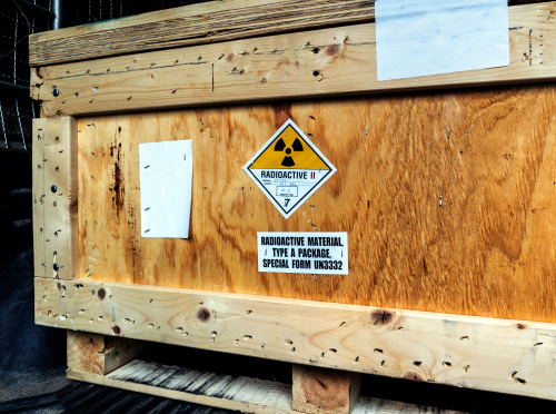 Label on dangerous goods shipping