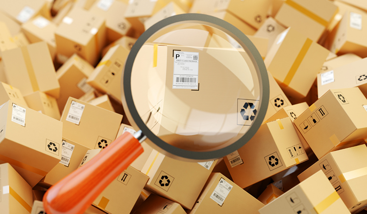 Package tracking software by label