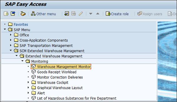 SAP EWM Training in the system
