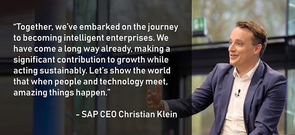 SAP CEO Christian Klein quote from SAPPHIRE NOW Vision