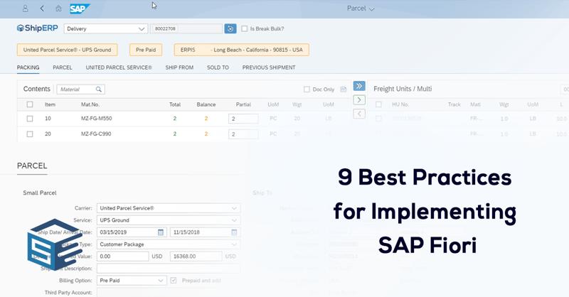 SAP Fiori best practices for implementation