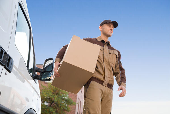 Man delivering and shipping hazardous materials