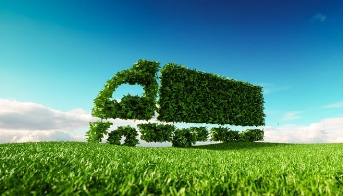 sustainable logistics eco-friendly delivery truck