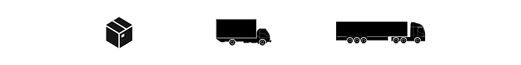 Parcel and carrier icons